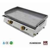 plancha chassis inox gaz 136kw 2 bruleurs plaque 80x40 acier poli montee en butane propane lot de 12 fainca 10218 3663