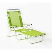 segura 175 chaise longue de plage pliable multipositions longueur 145 185cm hauteur 100cm couleur pistache lot de 2 lido