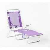 segura 175 chaise longue de plage pliable multipositions longueur 145 185cm hauteur 100cm couleur pourpre lot de 16 lido