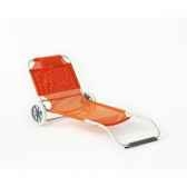 caribe 10 chilienne transformable multiposition pliable longueur 115 150cm hauteur 64cm couleur orange lot de 4 lido by