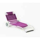 caribe 10 chilienne transformable multiposition pliable longueur 115 150cm hauteur 64cm couleur fuschia lot de 16 lido b