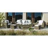 salon haut de gamme borsalino s10 canape 3p2 fauteuils 2 poufs 1 table basse coussin blanco nabab 10089 8430095