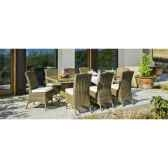 ensemble haut de gamme borsalino m8 table 8 chaises coussin marron nabab 10094 3663141