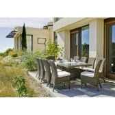 ensemble haut de gamme borsalino m10 table 10 chaises coussin marron nabab 10096 3663141