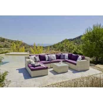 Salon haut de gamme atlanta s8 : 7 éléments coussin purpura Nabab -10097-8430293