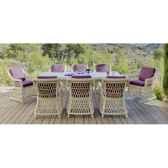 ensemble haut de gamme atlanta m8 table 8 chaises coussin pourpre nabab 10103 8430293