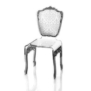 Chaise baroque blanche Acrila - 0002