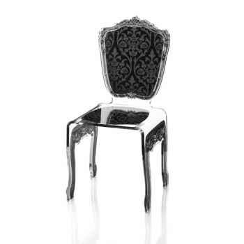 Chaise baroque noire Acrila - 0004