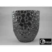 audace vase platine 32cm x2 edelweiss b8081