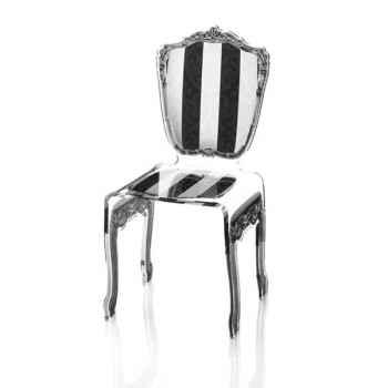 Chaise baroque raye Acrila - 0006