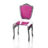 chaise baroque rose acrila 0007