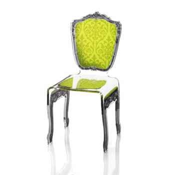 Chaise baroque verte Acrila - 0008