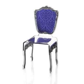 Chaise baroque violette Acrila - 0009