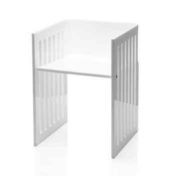 Chaise contemporaine barreau blanche Acrila - 0027