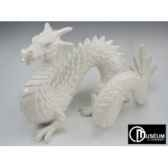 objet decoration loch ness dragon blanc edelweiss c2195