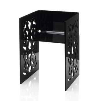Chaise contemporaine dentelle noire Acrila - 0030