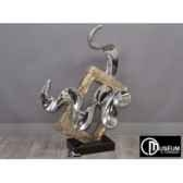 statue design argent chrome edelweiss c8089