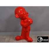 kids statuette rouge 79cm edelweiss c8836