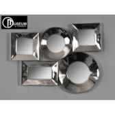 objet decoration nickeappmurale 5 miroirs edelweiss c8915