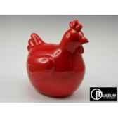 objet decoration color poule rde rge 34cm x2 edelweiss c9130