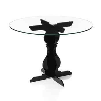 Table baroque noire Acrila - 0033