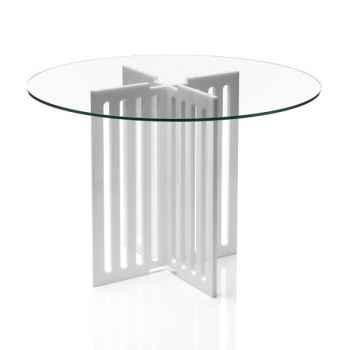 Table contemporaine barreau blanche Acrila - 0034