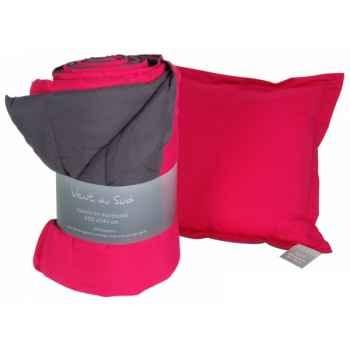 """Coussin déhoussable 45 x 45 cms \""""tasman\"""" couleur cendre - grenadine Antic Line -SEB13928"""