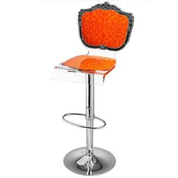 Tabouret baroque orange Acrila - 0019