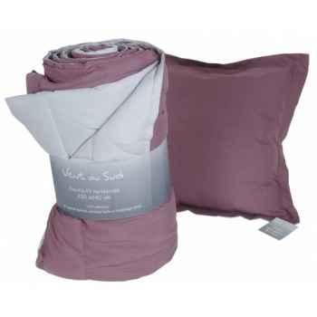 """Coussin déhoussable 45 x 45 cms \""""tasman\"""" couleur perle - vigne Antic Line -SEB13919"""