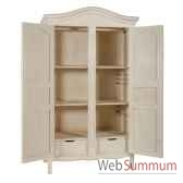 armoire 2 portes provence blanc patine antic line cd210