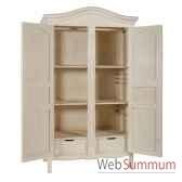 armoire 2 portes provence blanc patine antic line cd210