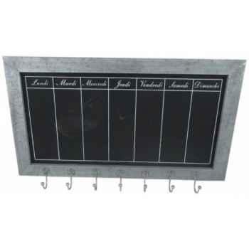 Tableau noir hebdomadaire zinc Antic Line -SEB13753
