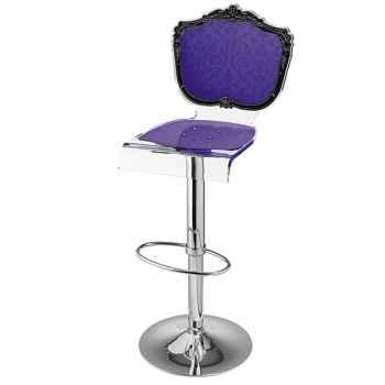 Tabouret baroque violet Acrila - 0023