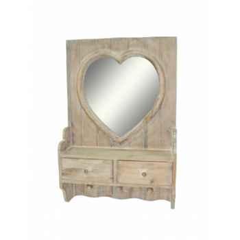 Miroir coeur 2 tiroirs Antic Line -SEB13726