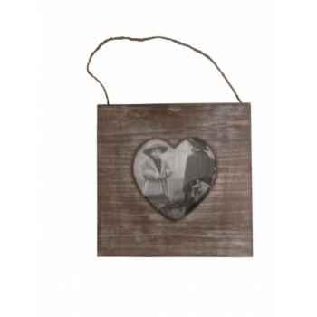 Cadre photo coeur bois naturel Antic Line -SEB13693