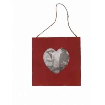 Cadre photo coeur rouge Antic Line -SEB13692