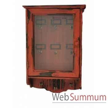 Boîte à clés rouge antique Antic Line -SEB13667