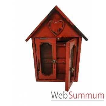 Boîte à clés rouge antique Antic Line -SEB13666