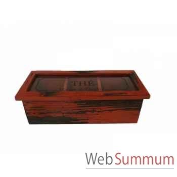 Boîte à thés rouge antique Antic Line -SEB13665