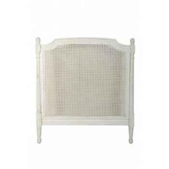 Tête de lit cannée - blanc patiné Antic Line -CD321