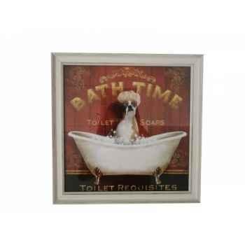 """Tableau \""""bath time\"""" chien aaron Antic Line -SEB13897"""