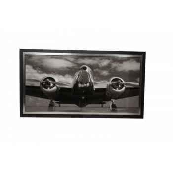 """Tableau \""""avion vue de côté\"""" Antic Line -SEB13222"""
