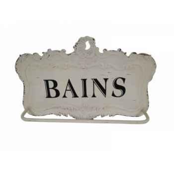 """Porte serviette en tôle \""""bains\"""" Antic Line -SEB13808"""