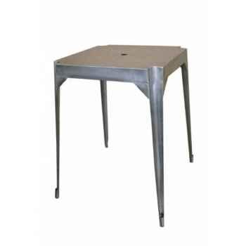 """Table haute en fer \""""multiple\'s\"""" acier hauteur 110 cms Antic Line -CD576"""