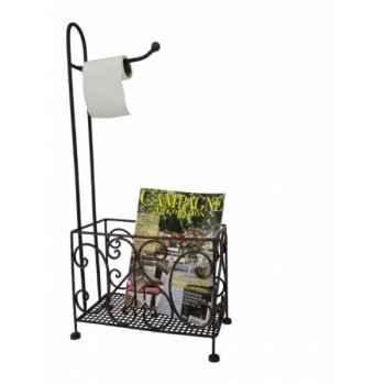 Dérouleur toilette avec range magazines Antic Line -SEB13769