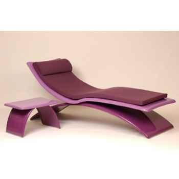 Chaise longue design Vagance violette matelas lilas Art Mely - AM02