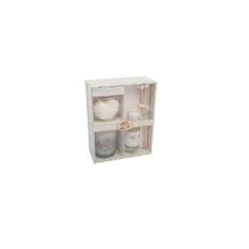 """Coffret 3 pieces: diffuseur 30ml - bougies et savon 45grs \""""nostalgie\"""" Antic Line -SEB11430"""