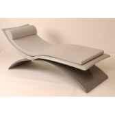 chaise longue design vagance grise matelas gris art mely am04