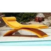 chaise longue design vagance jaune matelas jaune art mely am08