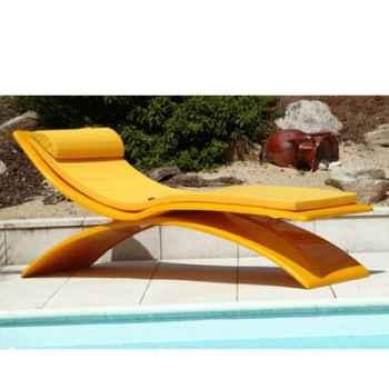 Chaise longue design Vagance jaune matelas jaune Art Mely - AM08